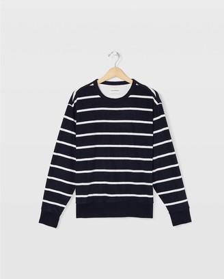 Club Monaco Striped Terry Sweatshirt