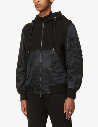 Neil Barrett Hybrid zipped stretch-jersey hoody