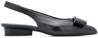 Salvatore Ferragamo Vara bow slingback ballerina shoes