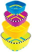 Sassy Stack 'n Serve Bowl Set - Multicolor - 4 ct