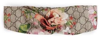 Gucci Blooms print silk headband