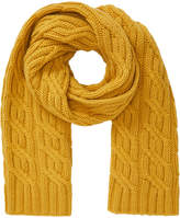 Jigsaw Cable Knit Cashmere Blend Scarf