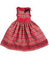 Little Girls Dress, Tartan Holiday Dress