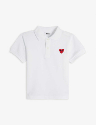 Comme des Garcons Heart logo-embroidered cotton polo shirt 2-6 years