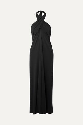 Eres Caro Convertible Stretch-jersey Halterneck Midi Dress - Black
