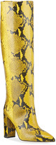 Paris Texas Snake-Embossed Leather Knee Boots