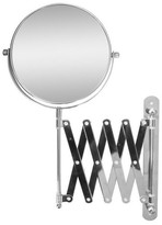 """Elegant Home Fashions 13.8"""" H x 23.75"""" W Extendable Wall Mount Magnifying Makeup Mirror"""