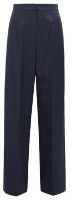 HUGO BOSS High Waisted Wide Leg Pants In Stretch Cotton - Open Blue