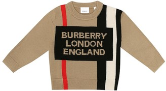 BURBERRY KIDS Rolfe Logo wool sweater