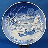 "Bing & Grndahl Bing & Grondahl ""Pheasants in the Snow At Christmas"" 1970 Plate"