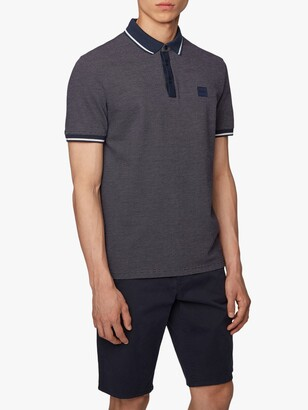 HUGO BOSS Partey Regular Fit Multitone Pique Polo Shirt