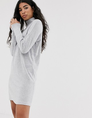 Noisy May roll neck mini knitted jumper dress