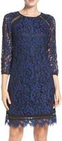 Eliza J Inset Lace Sheath Dress (Regular & Petite)