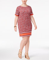MICHAEL Michael Kors Size Augusta Border-Stripe Shift Dress