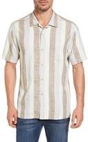 Tommy Bahama Cubano Boy Original Fit Stripe Camp Shirt