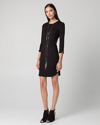 Le Château Ponte Crew Neck Tunic Dress