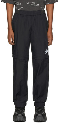 we11done Black WD Logo Tracksuit Trousers