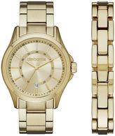 claiborne mens gold tone watch and bracelet set shopstyle claiborne mens gold tone watch and bracelet set