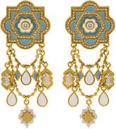 Buddha Mama Sky Blue Lantern Diamond Earrings