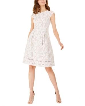 Jessica Howard Petite Cap-Sleeve Lace Dress