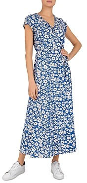 Gerard Darel Susy Floral Print Wrap Dress