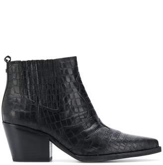 Sam Edelman Winona crocodile-effect ankle boots