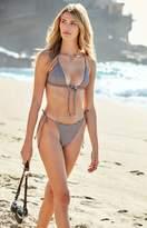 La Hearts Tie Front Triangle Bikini Top