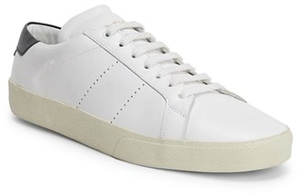 Saint Laurent Low-Top Leather Lace-Up Sneakers
