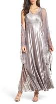 Komarov Women's Maxi Dress & Shawl