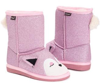 Muk Luks Girls' Casual boots Pink - Pink Evie Fox Boot - Girls