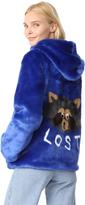 Mira Mikati Lost Racoon Faux Fur Jacket