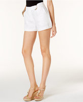 MICHAEL Michael Kors Linen Belted Shorts