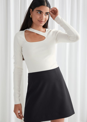And other stories Long Sleeve Cut Out Knit Top