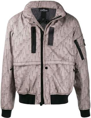 Stone Island Shadow Project abstract print jacket
