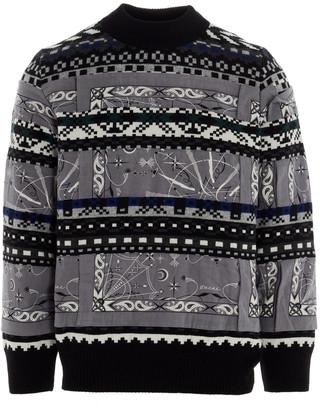 Sacai dr Woo Bandana Sweater