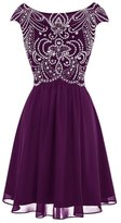Annie's Bridal Women's Beaded 2016 Homecoming Dresses Short Prom Gowns