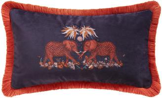 Emma J Shipley - Zambezi Boudoir Cushion - Wine