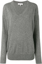 Frame Grey V-Neck Knitted Sweater - women - Cashmere - XS