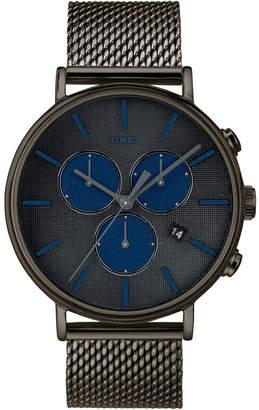 Timex Fairfield Supernova Chronograph 41mm Black Mesh Band Watch