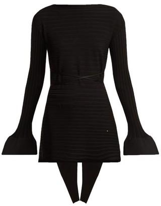 Esteban Cortazar Rib-knit Fluted Sweater - Black