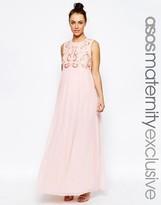 Asos Embellished Maxi Dress with Chiffon Skirt