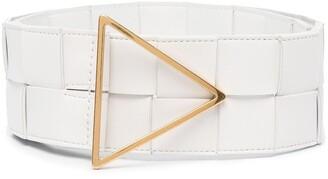 Bottega Veneta Intrecciato triangle-buckle belt
