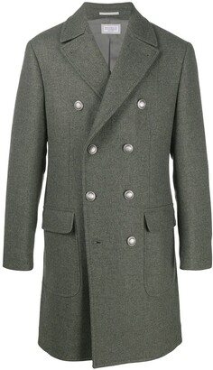 Brunello Cucinelli Double-Breasted Virgin Wool Coat