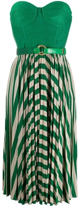 Elisabetta Franchi Sleeveless Pleated Dress