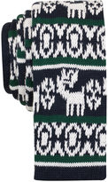 Bar III Men's Reindeer Knit Slim Tie, Only at Macy's