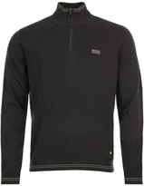 Boss Green Jumper Zime Half Zip 50370538 010 Charcoal