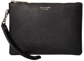 Kate Spade Margaux Small Pouch Wristlet (Black) Handbags