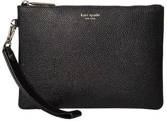 Kate Spade Margaux Small Pouch Wristlet (Black) Handbags