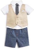 Miniclasix Infant Boys' Faux Vest Knit Shirt & Chambray Shorts Set - Sizes 3-24 Months