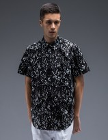 Stampd Black Calf Hair Underprint Button Down Shirt